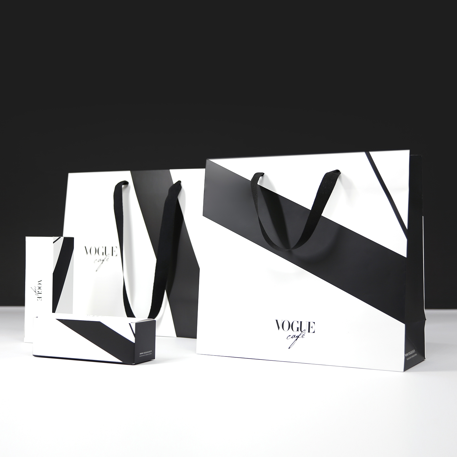 Luxury shopping bags and boxes vogue cafe by grafislab
