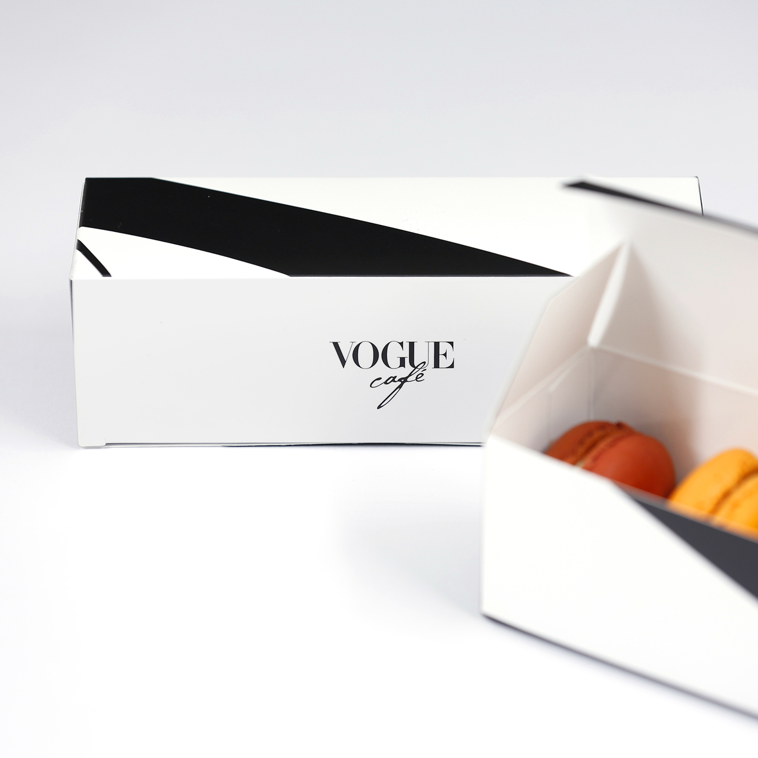 Macaroons boxes vogue cafe by grafislab